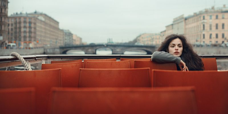 girl, spb, saint-petersburg, boat, water, portrait Spbphoto preview