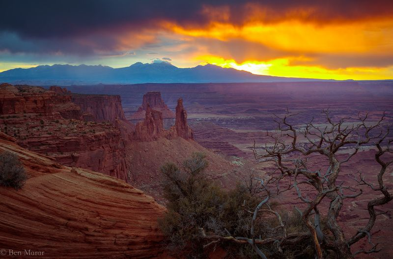 canyonlands, landscape, mesa arch, utah, canon, sunrise, cloudy, storm One Amazing Sunrisephoto preview