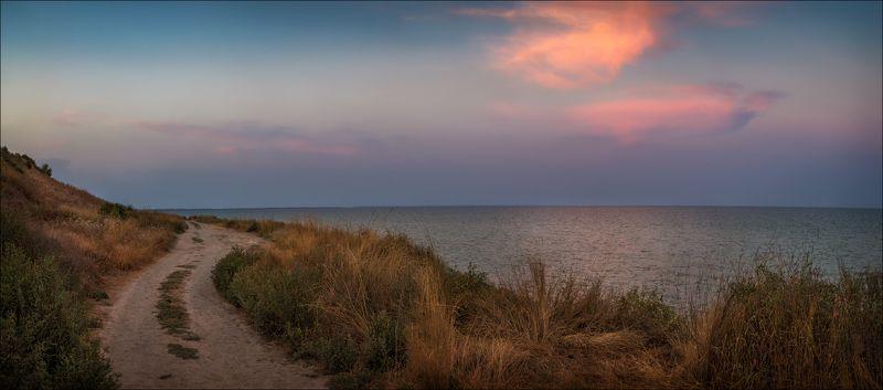 вечер, лето, море, Вечерело на Азовском мореphoto preview
