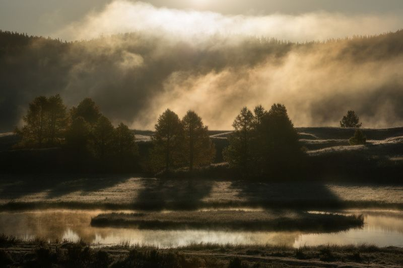 алтай, горы, осень Алтайское утроphoto preview