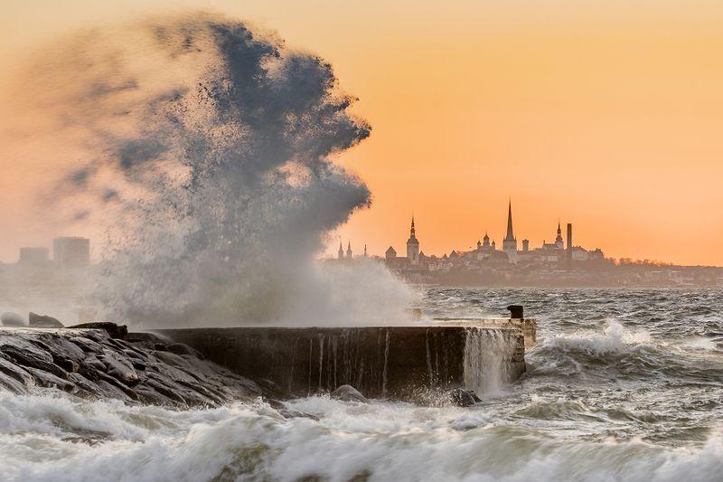 Таллин на закате.photo preview