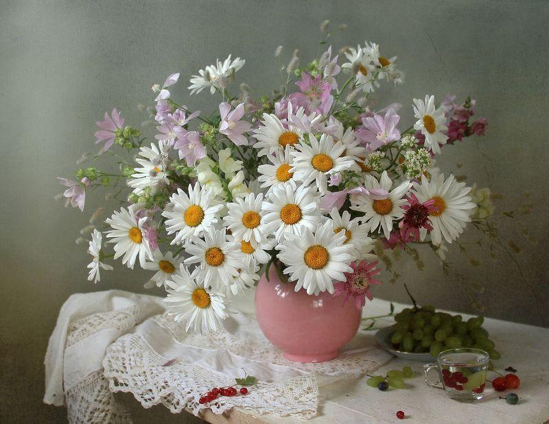натюрморт, цветы, марина филатова Ромашки нежные созданияphoto preview