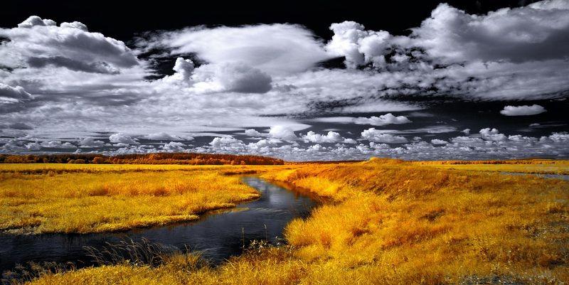 Июльские облака. Инфракрасная фография.photo preview