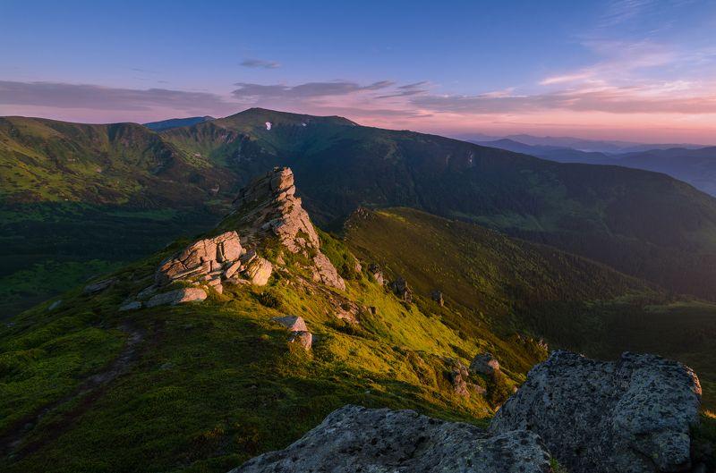 карпаты, черногорский хребет, гора ушастый камень, гора мунчель ***photo preview