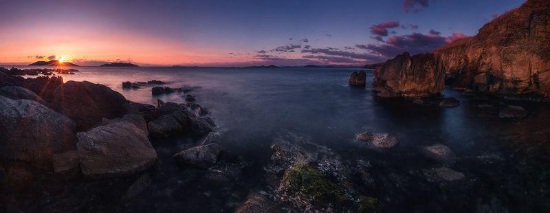 утро, море, скалы, панорама, осень ***photo preview