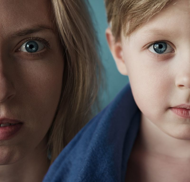 mom, mother, son, nikon, eyes, blue,  Masha and Andreyphoto preview