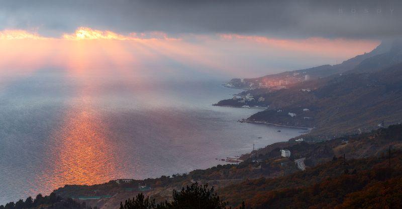 закат в пасмурный деньphoto preview