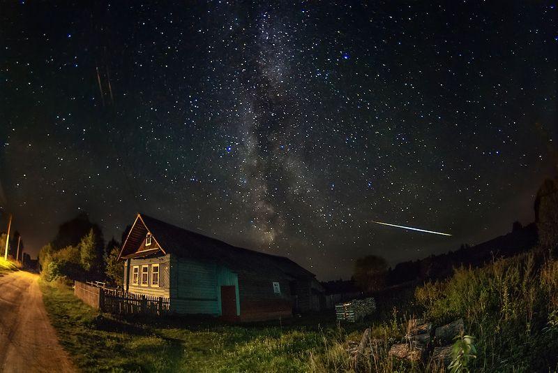млечный, путь, звезды, деревня, персеиды про август, звездную ночь и персеидкуphoto preview