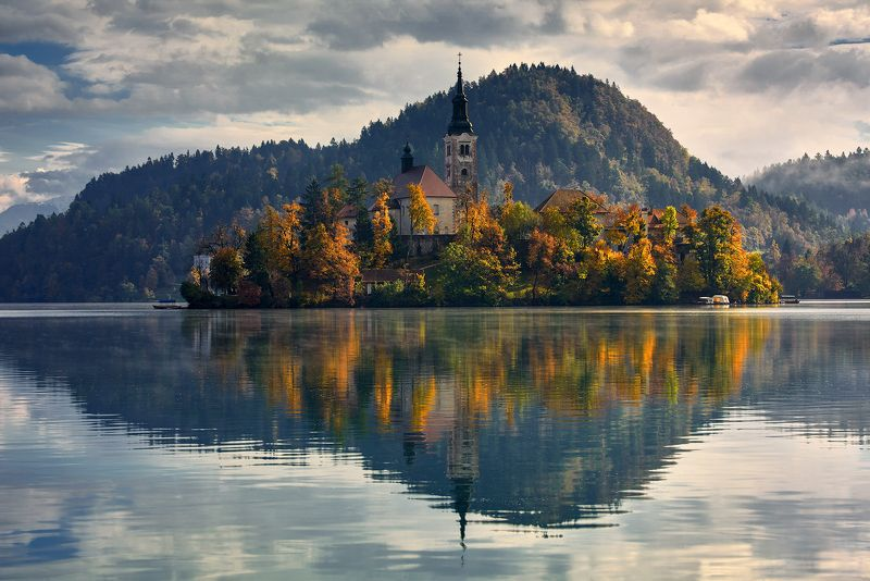 Lake Bled , Church , Island, Bled, Slovenia, Europe. Lake Bledphoto preview