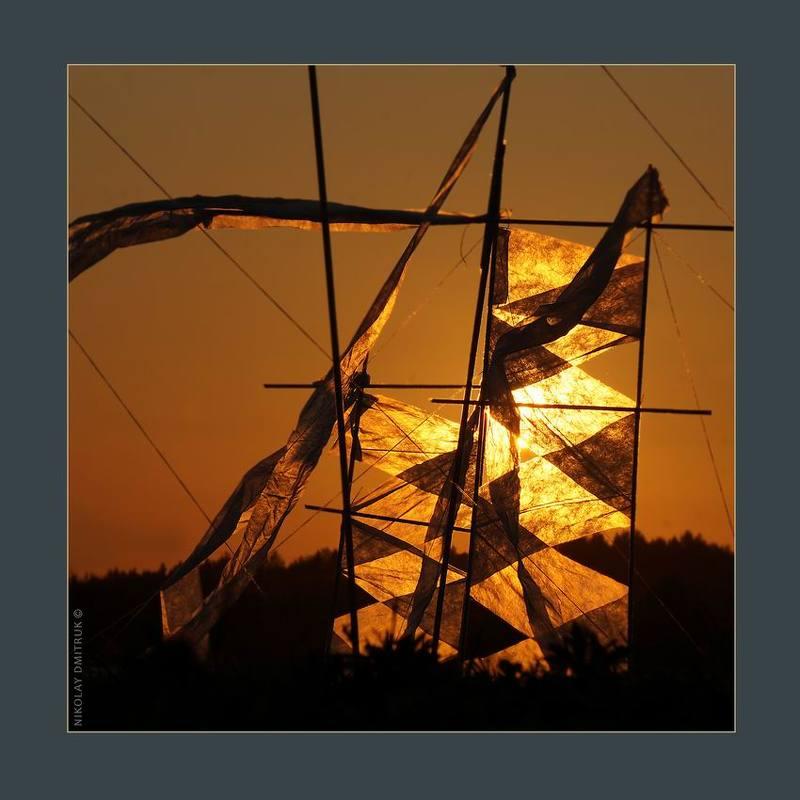 пейзаж  природа инсталляция музыка ловушка для солнца. Арта.photo preview