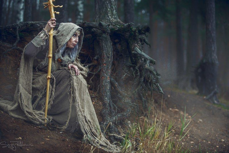 ведьма, лес, фэнтази, ночь Ведьмаphoto preview