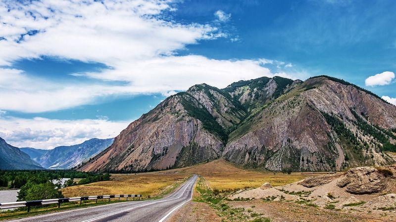 пейзаж, лето, горы, дороги  Дороги Горного Алтая.photo preview