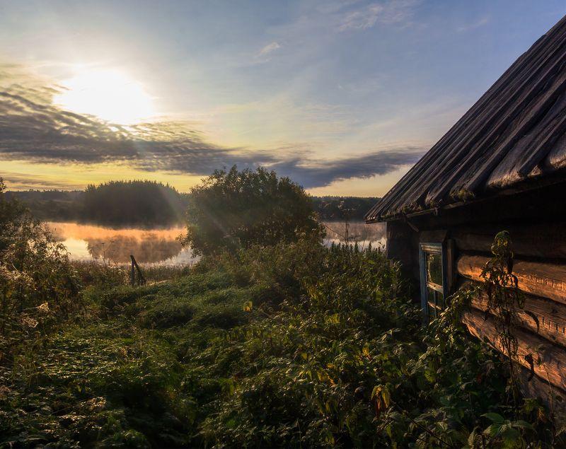 Вепсский лес, утро, рассвет, озеро, туман Утро в Вепсском лесуphoto preview
