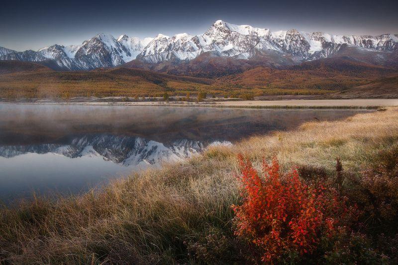 алтай, джангысколь, горы, осень, куркурек Перед рассветомphoto preview