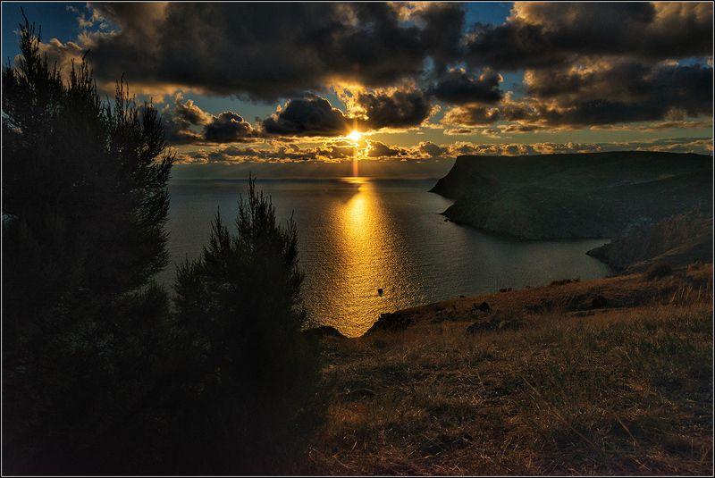 крым, осень, море, солнечная дорожка Однажды вечеромphoto preview