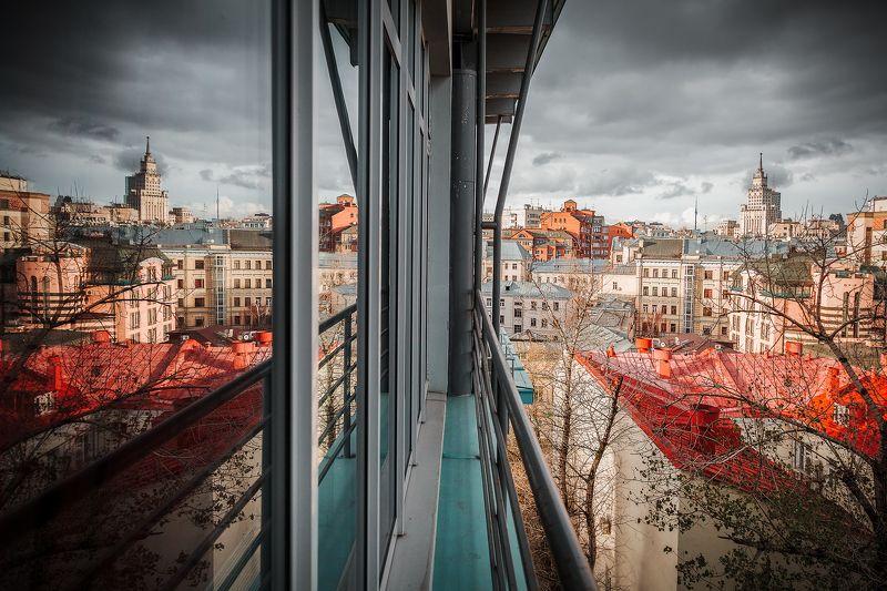 москва, крыши, свет, цвет, здания, осень, отражения, тучи, облака, солнце, гостиница *MSK*photo preview