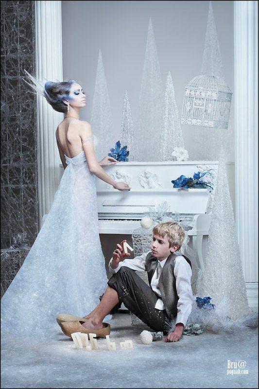 снежная королева, кай, любовь, снег, лед, вода, тает Снежная Королеваphoto preview