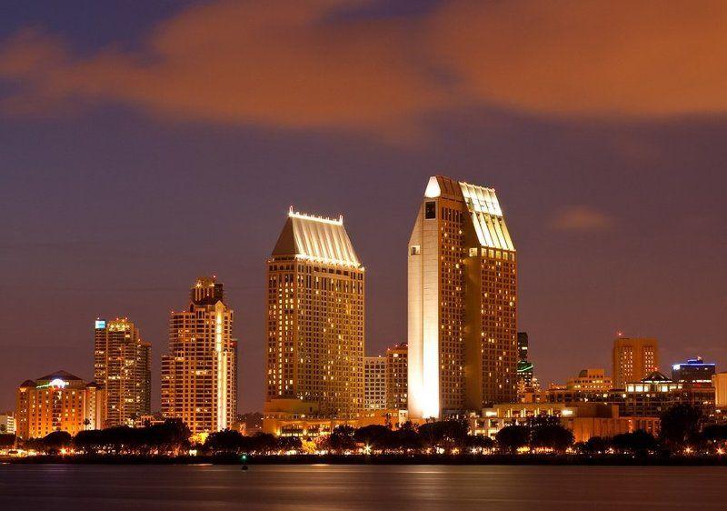 san diego, night, california, usa Ночной Сан-Диегоphoto preview