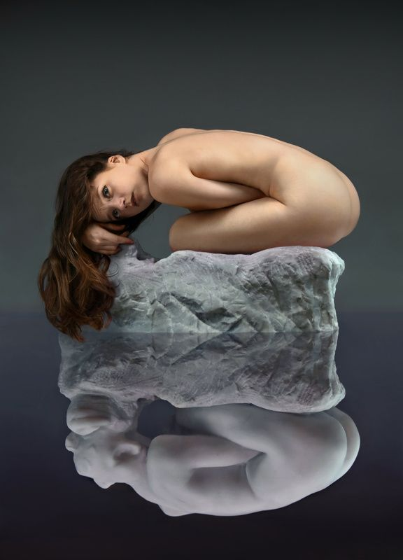 sculpture, art, museum, marble, stone, girl, nude, model, posing, paris, rodin, myth, greek, reflection Мрамор XVIphoto preview