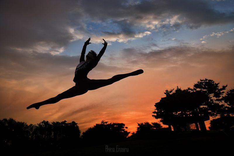 ballerina, dance, dancing, portrait, street, outdoor Осенний закатphoto preview