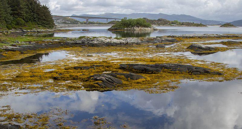 норвегия Пейзаж с мостом 2photo preview