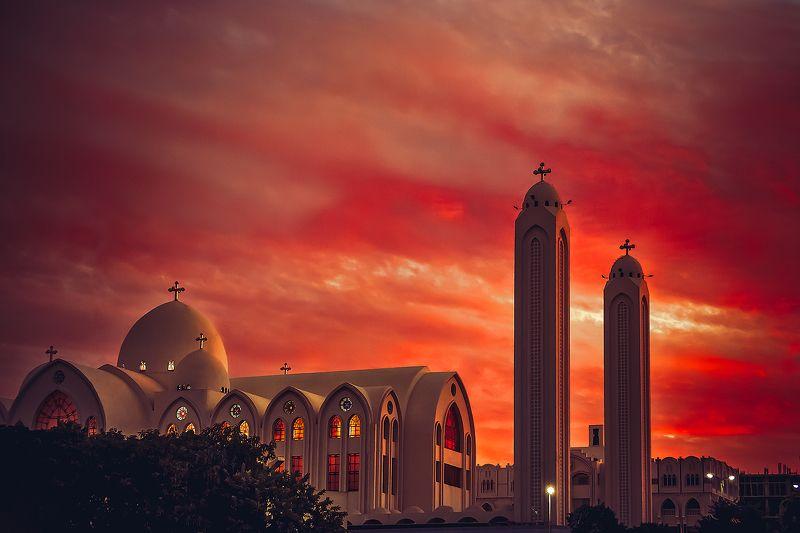 chuirch, egypt, sunset, travel The bleeding Archangelphoto preview