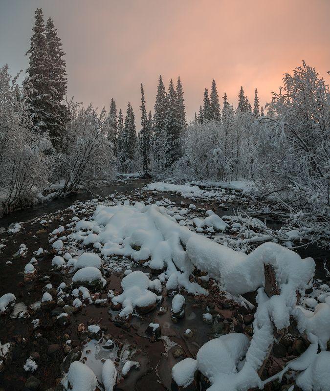 умболка, север, кольский, ноябрь, хибины Легкий мороз.photo preview