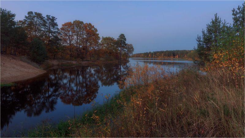 осень, река Березина Осенний \