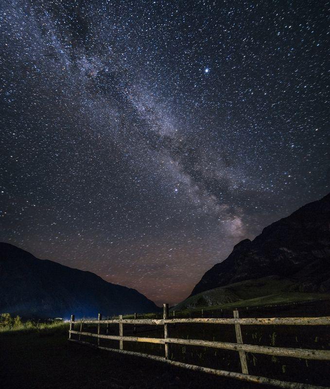 Алтай, пейзаж, звёзды, млечный путь, пейзаж, ночь, астрофотография, горы Спустя полтора часа после грозыphoto preview