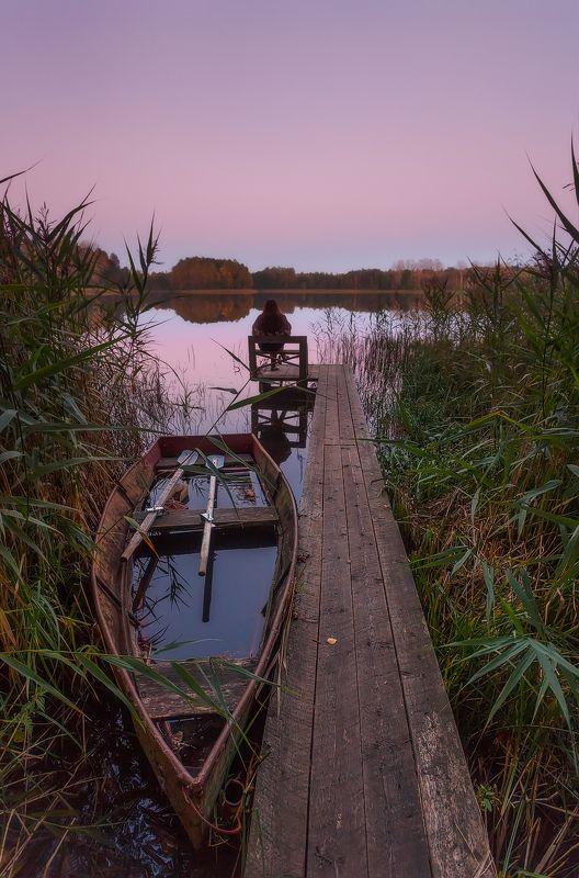 питер, ленобласть, закат, озеро Вечерняя медитация. . .photo preview