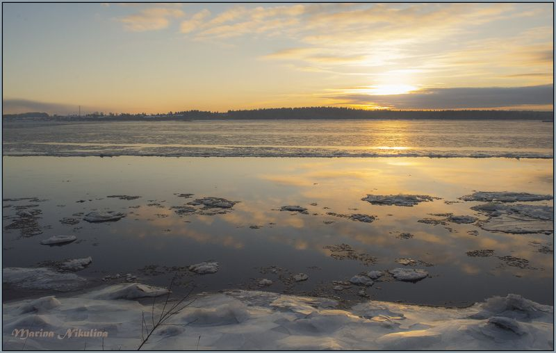 онега Начало ледостава.photo preview