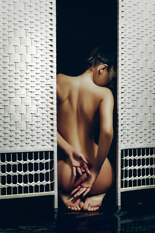 woman, nude, screen, studio, light, mask Hide what you have to hide And tell what you have to tellphoto preview