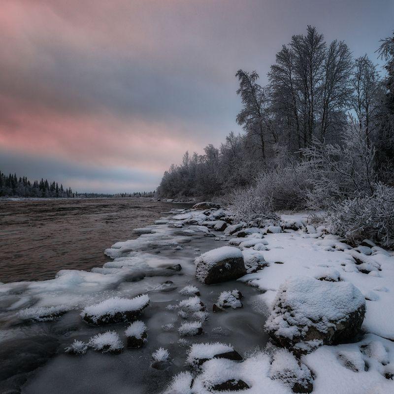 север, кольский, хибины, заполярье, умба Умба в ноябре.photo preview