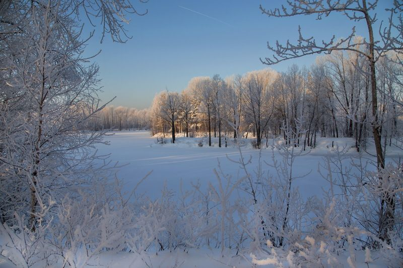 сибирь, пейзаж, кузбасс, зима, томь, карьеры Сибирское утро!photo preview
