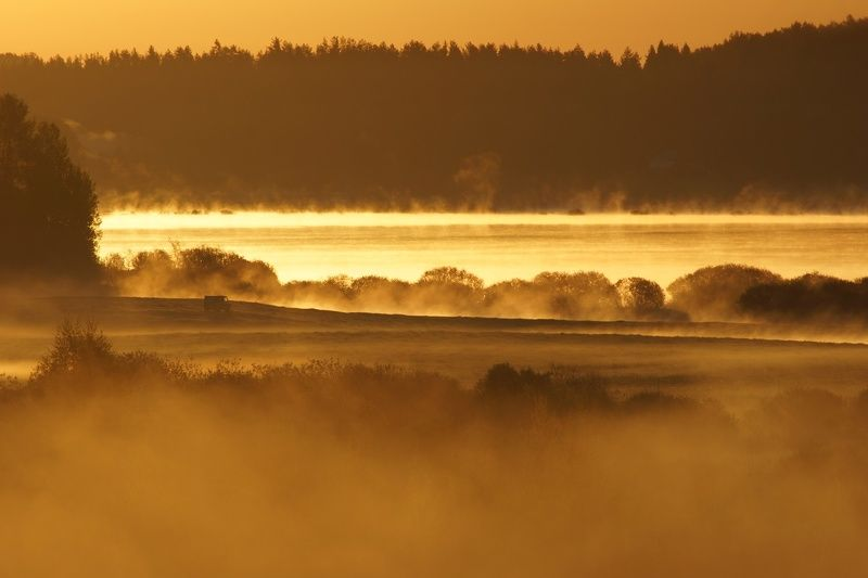 рассвет, река, сороть Разливы реки Соротьphoto preview