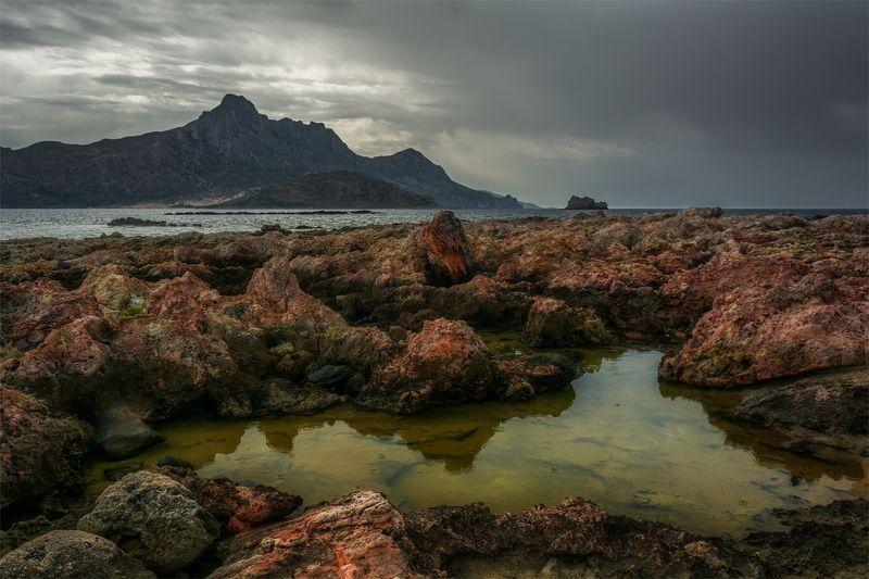 природа, пейзаж, горы, осень, небо, облака, море, ***photo preview