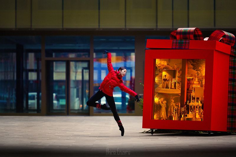 ballerina, dance, dancing, portrait, street, outdoor Рождество за углом IIphoto preview