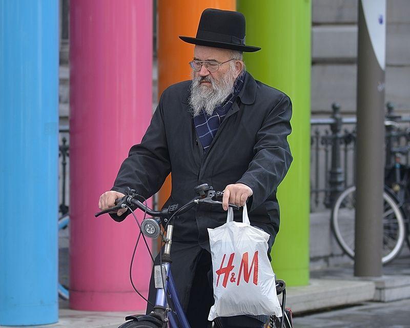 The biking jews of Antwerp(Belgium).photo preview