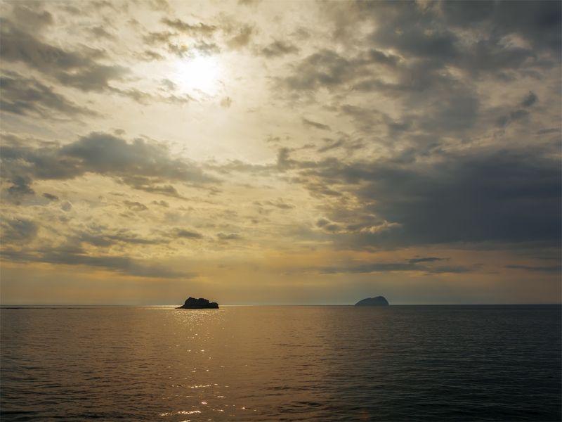 природа, море, пейзаж, остров, закат, вечер, ++++photo preview