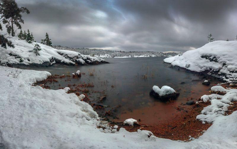 Ладога, карелия, зима, вода и снег, фототур, ЛАдожское озеро ,север, шхеры Луммиваарские шхеры. Карелияphoto preview