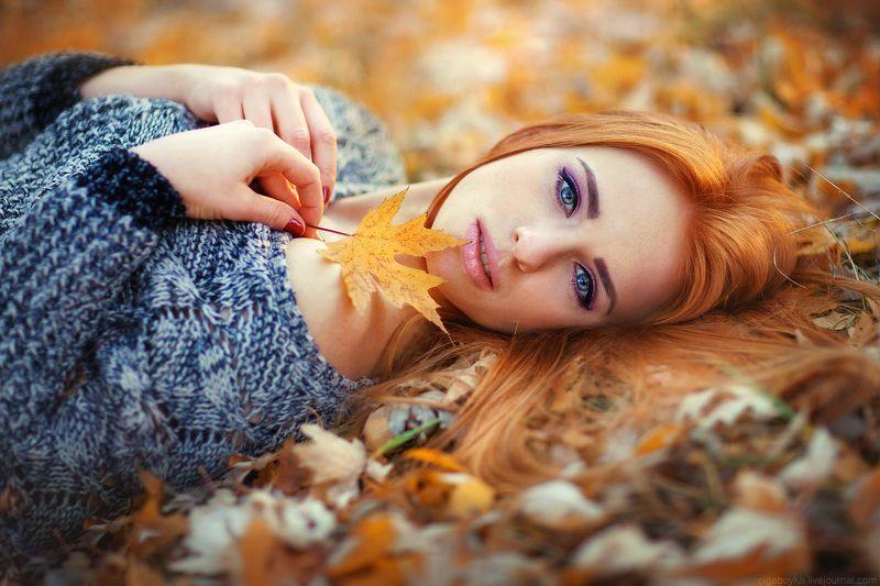Девушка- осеньphoto preview