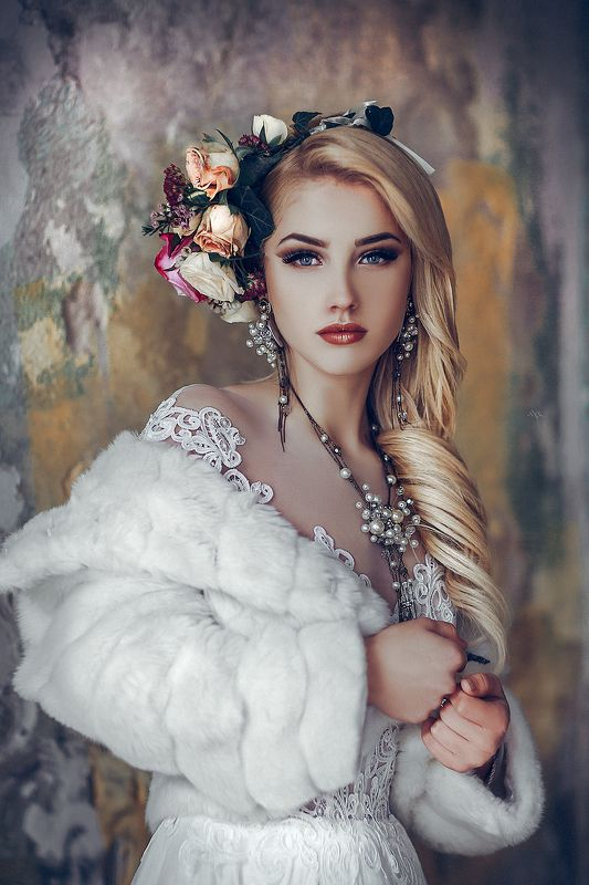 woman, bride, portrait, natural light, blonde, beauty, dress, wedding Fear the cold and crave the burnphoto preview