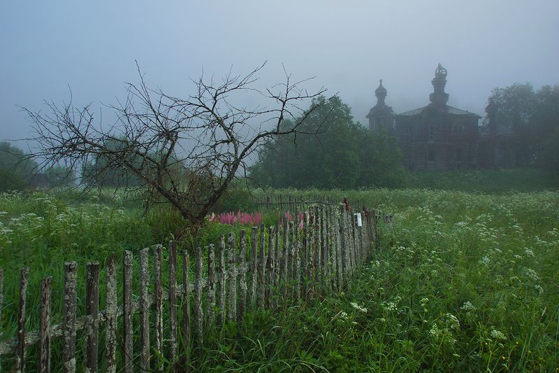 церковь, утро Туманы Сидозераphoto preview