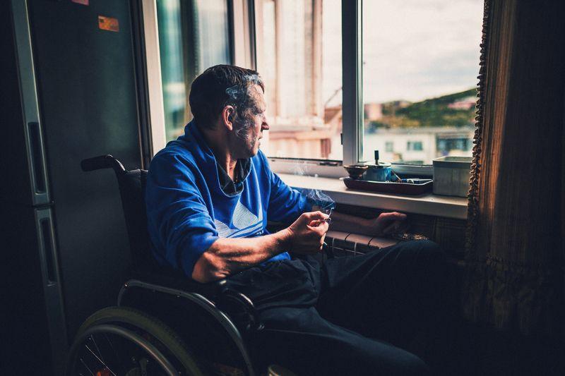 инвалидность, репортаж Один день из жизни Андрея...photo preview