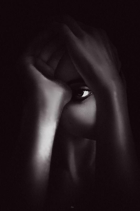 woman, portrait, black and white, art I meet my shadow in the deepening shade...  Dark, dark my light, and darker my desirephoto preview