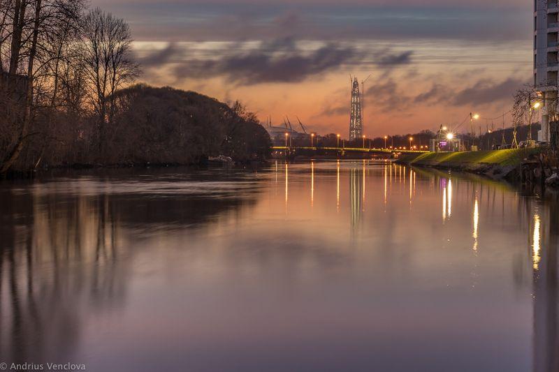 Закат на Ждановкеphoto preview
