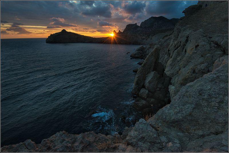крым, новый свет, вечер, солнце,море Последний лучphoto preview