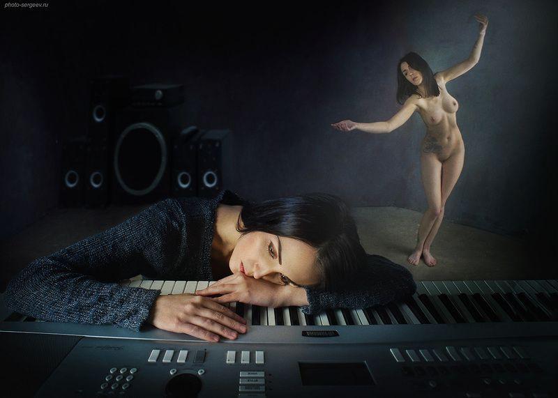 творчество,муза,ночь,настроение,грусть,лирика,сентиментальность,девушка,музыка,музыкант,арт,фото-арт Ноктюрнphoto preview