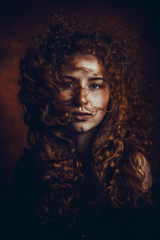 woman, redhead, beauty, portrait, studio, art And God said, let there be redheadsphoto preview