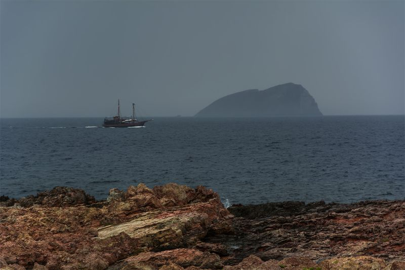 море, остров, корабль, Пиратыphoto preview